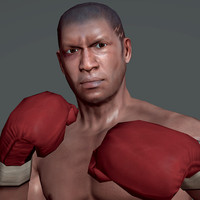 3d boxer man athlete model