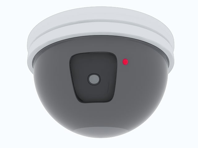 ceiling mounted security camera 3d model