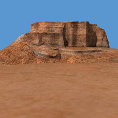 canyon landscape ridge 3d model