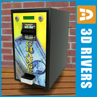 3d money change machine model