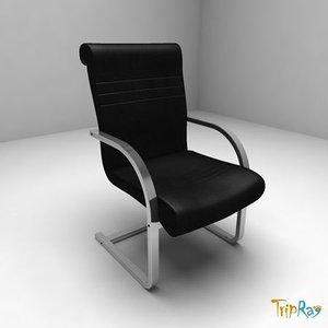3d max chair armchair office