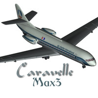 Caravelle S.U.D Aviation French Airliner Max3