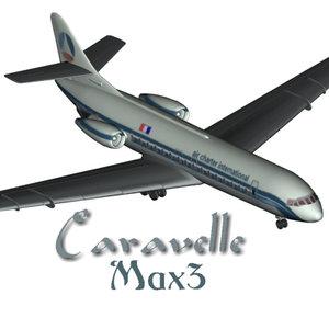 3d sud aviation caravelle model