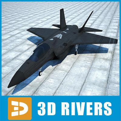 3d f-35 lightning ii plane model