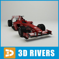 race car driver 3d model