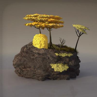 3d model foliage fantasy
