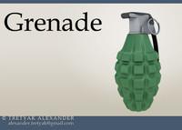 3d model highpoly hand grenade