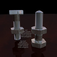 3ds hex bolt nut