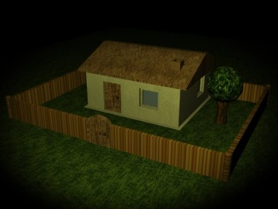 3ds max simple house