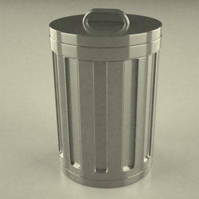 dustbin file 3d 3ds