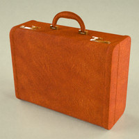 suitcase suit 3d obj