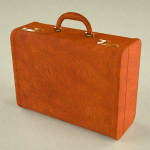 suitcase suit 3d obj