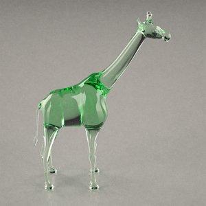 3d glass statuette
