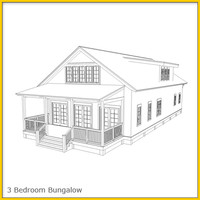 Bungalow House 1 Whitebox