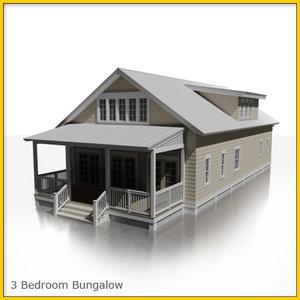 house bungalow 3d model
