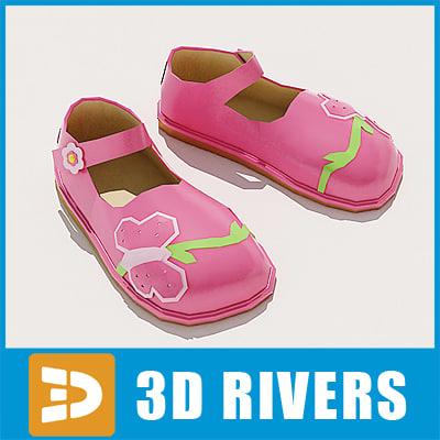kids shoes 3d 3ds