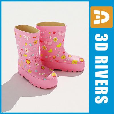 3d model kids shoes