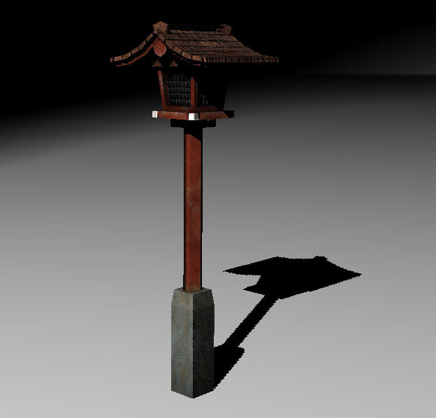 3d model japan street lamp