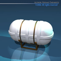 Life raft container