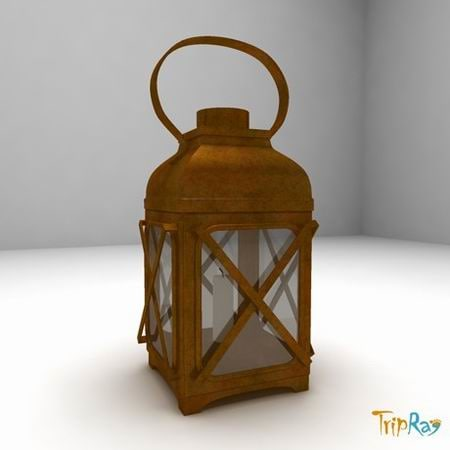 lamp candle hand 3d model