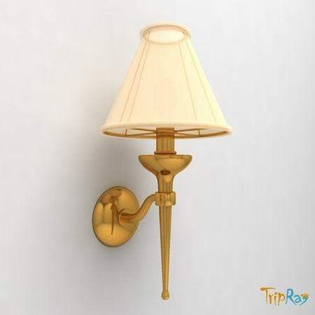 lamp sconce 3d 3ds