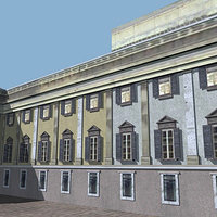 3d royal palace baroque model