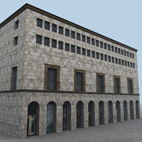 building milan environment 3d model