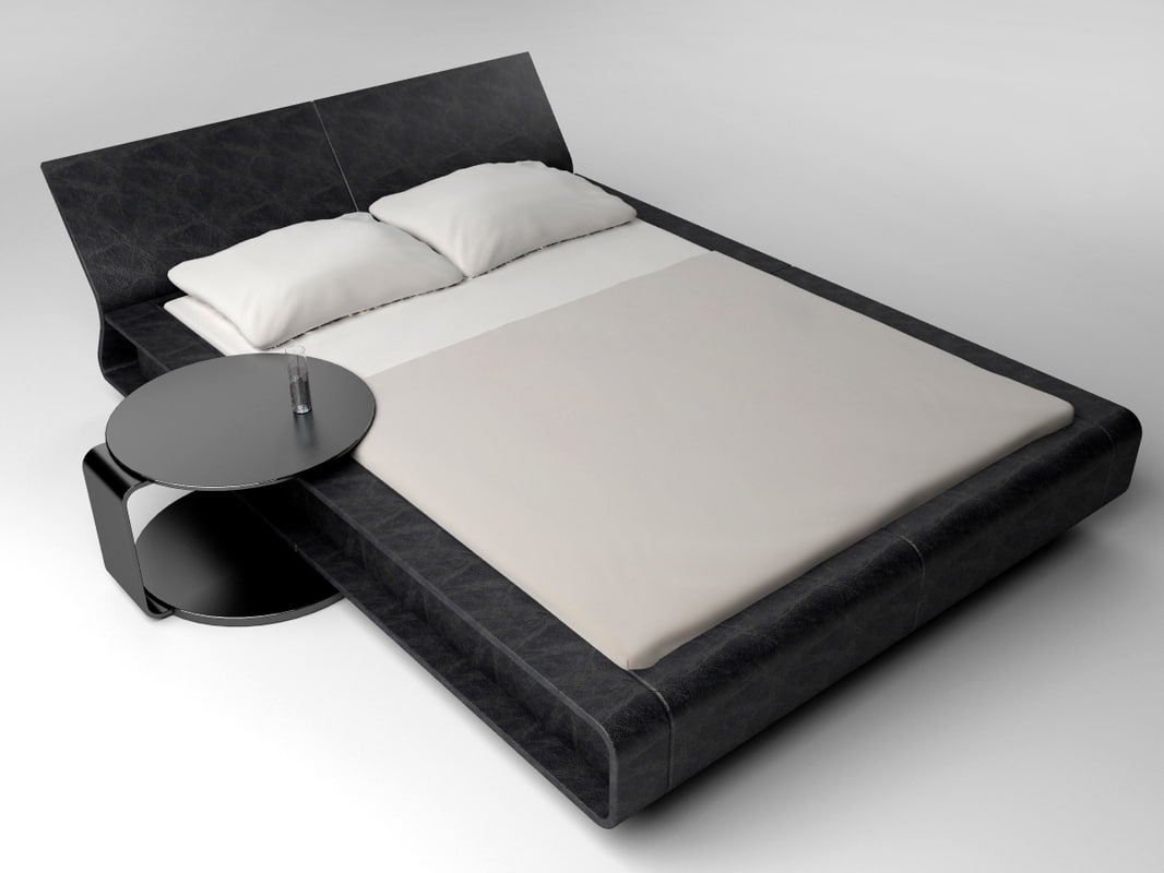 modern bed molteni 3d model