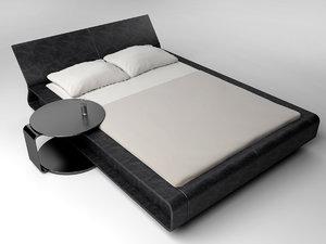 modern bed molteni 3d model