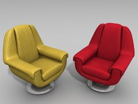 armchairs leather 3d max