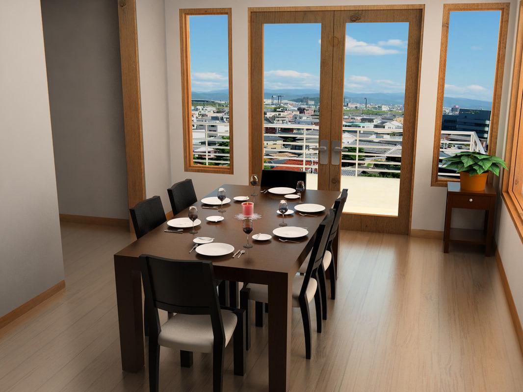 dining room 3d max