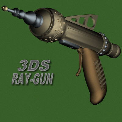 3ds scifi raygun