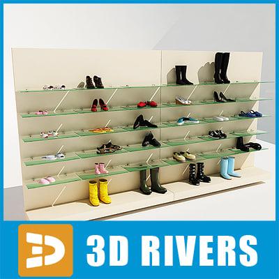 maya display rack shoes