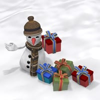 max cartoon snowman