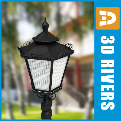3d streetlight street lamp model