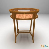 Decorative oval table