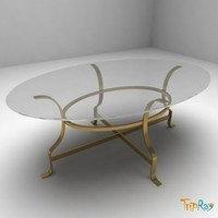 3d table magazine oval model