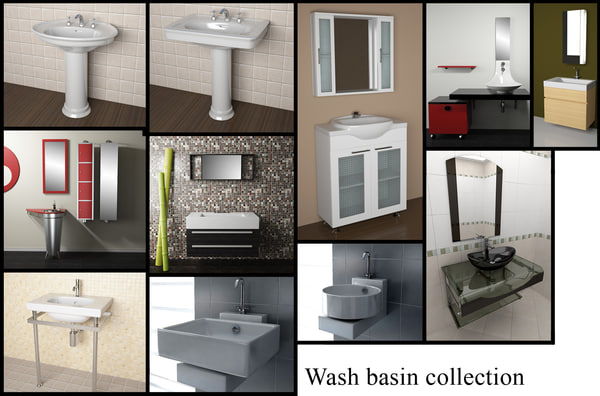 designer wash-basins basin 3ds