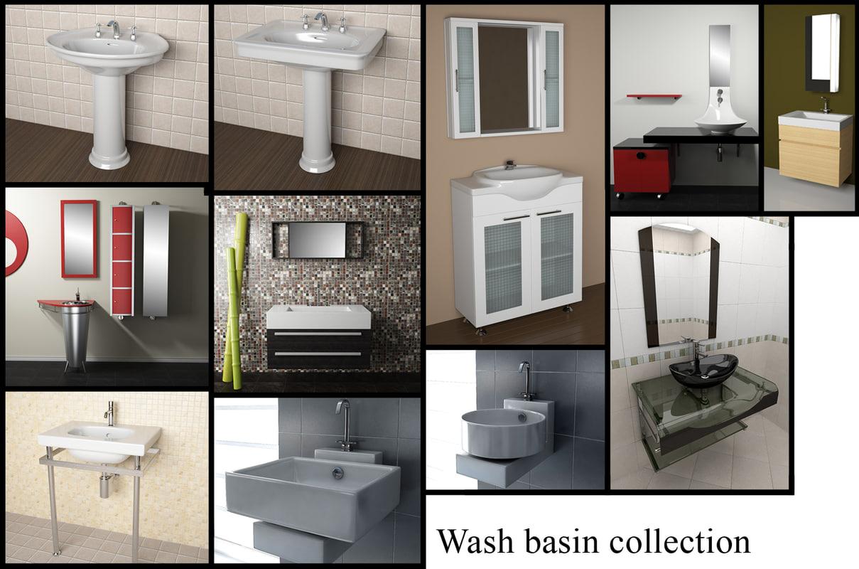 designer wash-basins basin 3ds