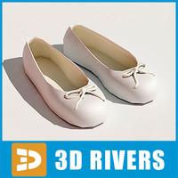 3d model ballet flats shoes