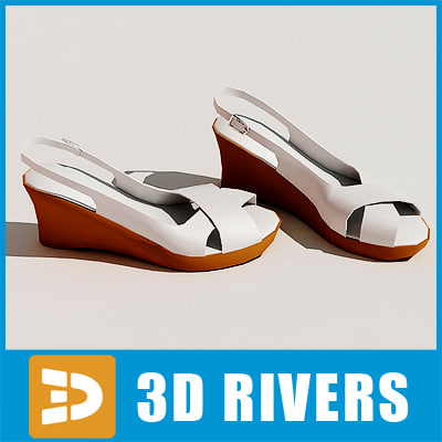 3ds max slingbacks shoes