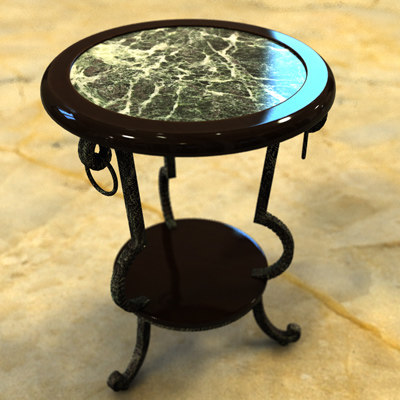 3d tea coffee table model