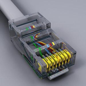 rj45 internet lan 3d model