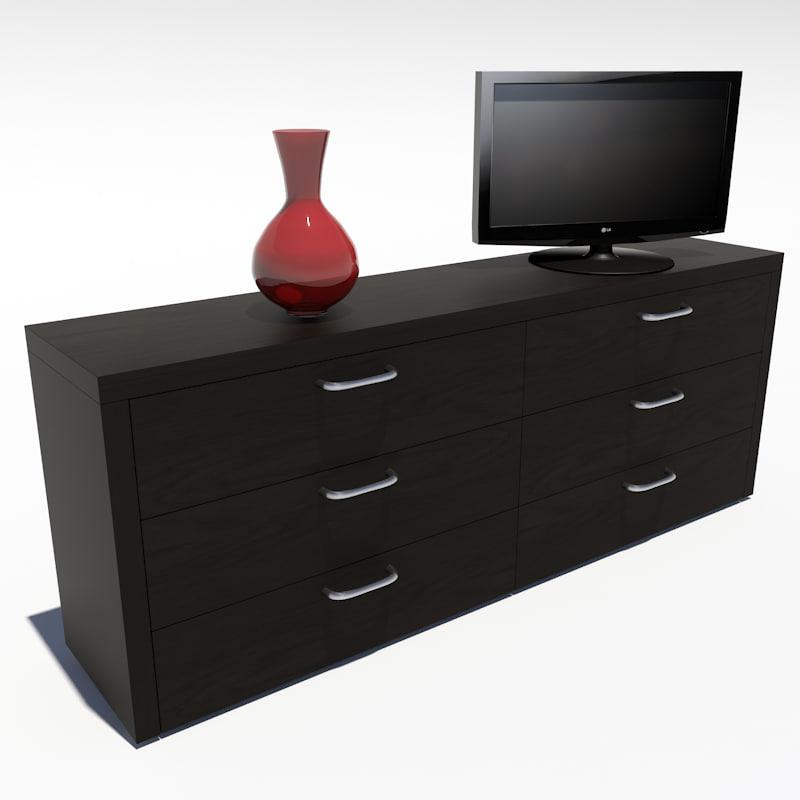 designer drawers 3d model