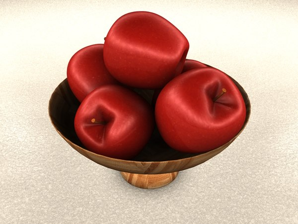 bowl apples 3d c4d