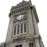 clock tower 3d c4d