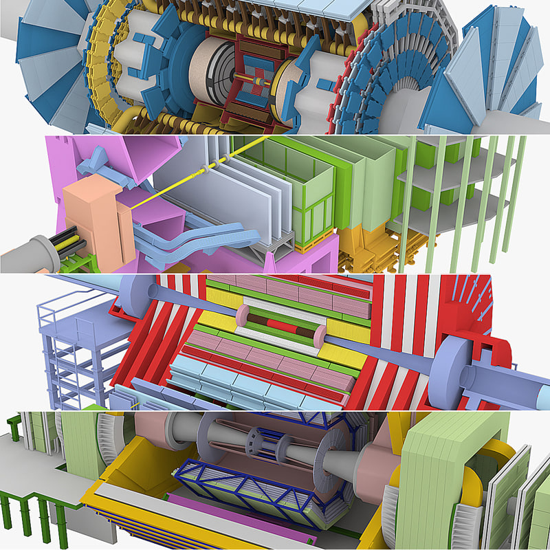 3d large hadron collider lhc model