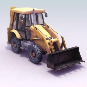 3d model 2cx digger