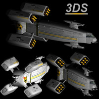 E D F Monitor Earth Defence Force Space Ship Models 3DS