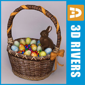 3dsmax easter basket